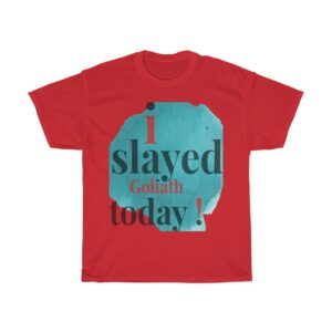 """MEN'S """"I SLAYED GOLIATH"""" T-SHIRTS BY THEBOOKKEEPER247"""